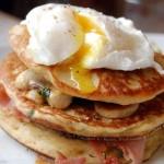 pancake poahced egg recipe